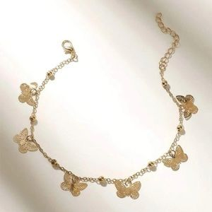 Butterfly Anklet ( gold color)